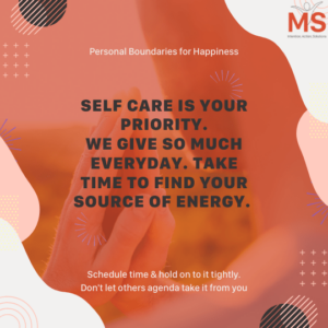 Personal Boundaries for your self-care